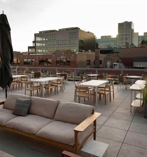 Herman Miller showroom outdoor terrace