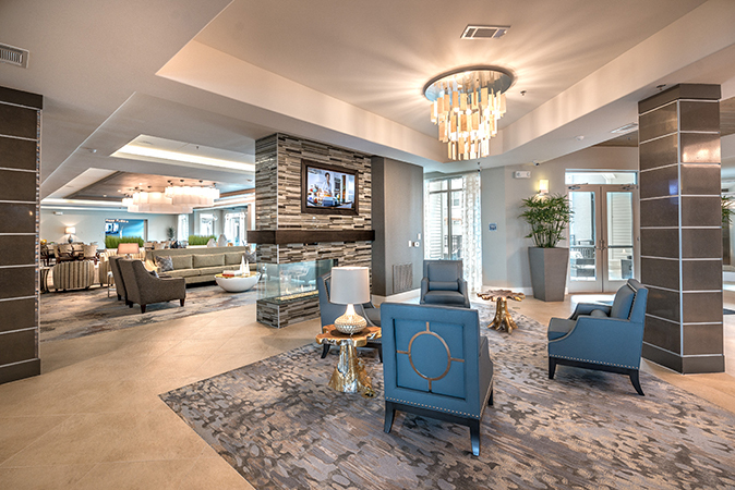 There is ample opportunity to gather with neighbors and friends at Overture in Plano, TX.
