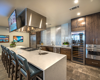 Gorgeous demonstration kitchen at Overture in Plano, TX.