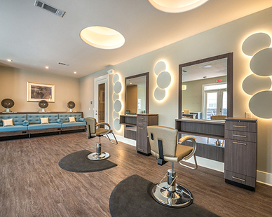 Full service salon for the residents at Overture in Plano, TX.