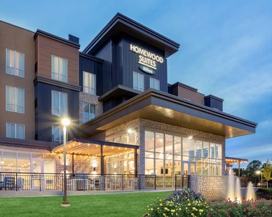 Nelson-Rudie provided structural design services for the slab on grade hotel with four levels of wood stud walls and open web wood truss framing.