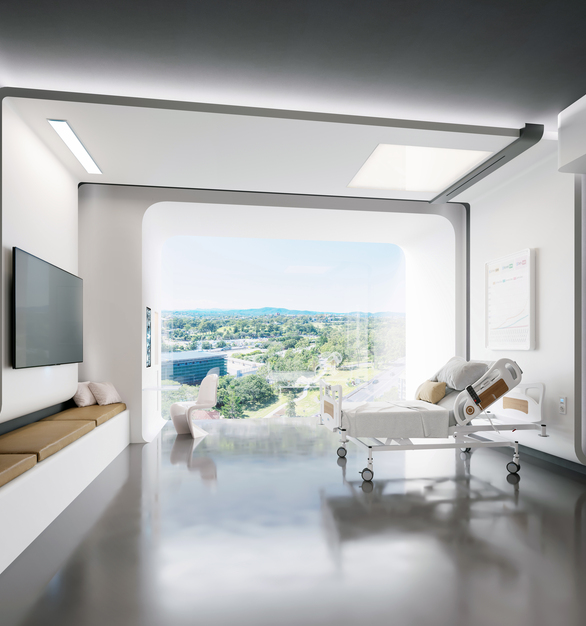 The resin material used to make Durasein's solid surfaces is the perfect addition to any space within a healthcare facility.