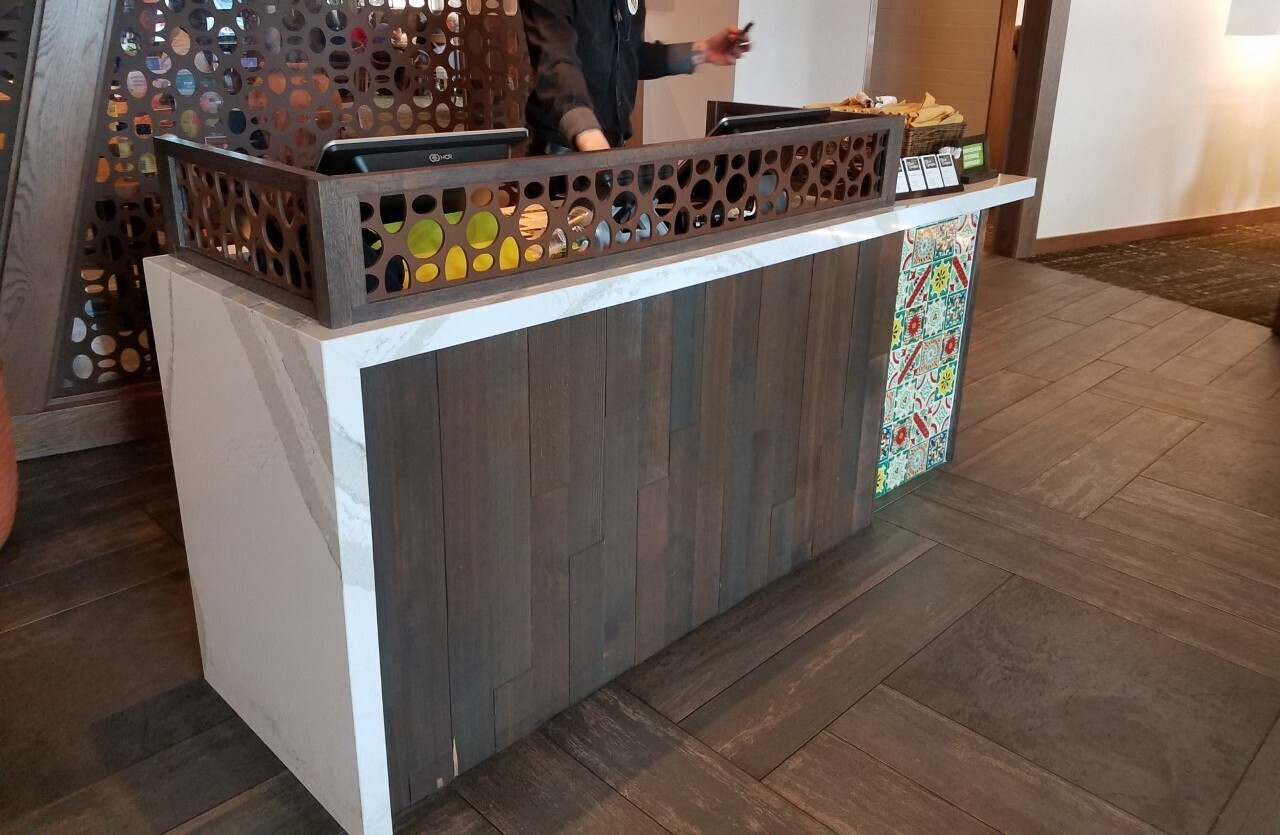 Olive Garden used the Eco-Panel on their host stand.