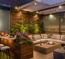 Hotel Lounge Patio Area