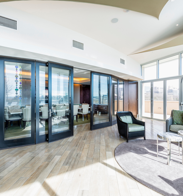 Designing glass panels into your facility allows natural sunlight into your space, which could qualify for LEED points for Indoor Environmental Quality (IEQ) Credit 8.2: Daylight and Views.