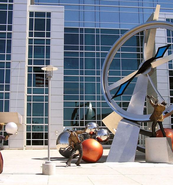Sculpture outside of CenturyLink Center Omaha Convention Center and Arena – Omaha, Nebraska