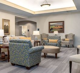 Image courtesy of The Memory Center Lounge Area Design