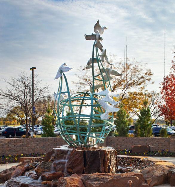 """""""Serenity"""" display at Immanuel Medical Center in Omaha, Nebraska."""