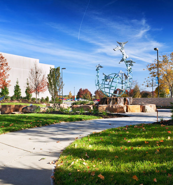 """Wide angle view of """"Serenity"""" at the Immanuel Medical Center in Omaha, Nebraska."""