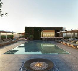 Infiniti Drain Century Plaza Hotel Exterior Pool Deck