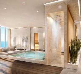 Infiniti Drain The Ritz Carlton Residences Sunny Isles Beach Florida Interior Spa