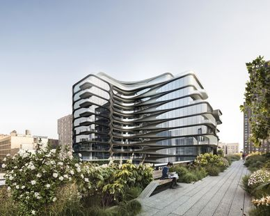Modern exterior can be found at the 520 West 28th Condos in New York City, New York.