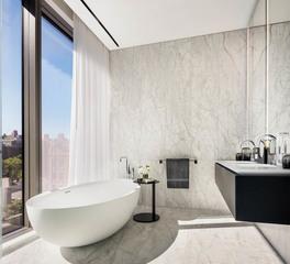 Infinity Drain 520 West 28th Street luxury bathroom