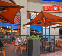 Infratech Blaze Pizza Outdoor Dining Seating Heating Systems