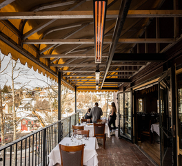 Infratech Grappa Restaurant Design Outdoor Seating and Heating Systems