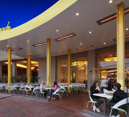 Infratech Outdoor Heaters Lemonade Restaurant Design Outdoor Seating Ceiling Heating System