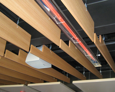Incorporate our W-Series heaters with any of your existing design elements. Our low profile heaters are suitable for indoor and outdoor installations and offer a pleasing, streamlined look due to low clearance requirements.