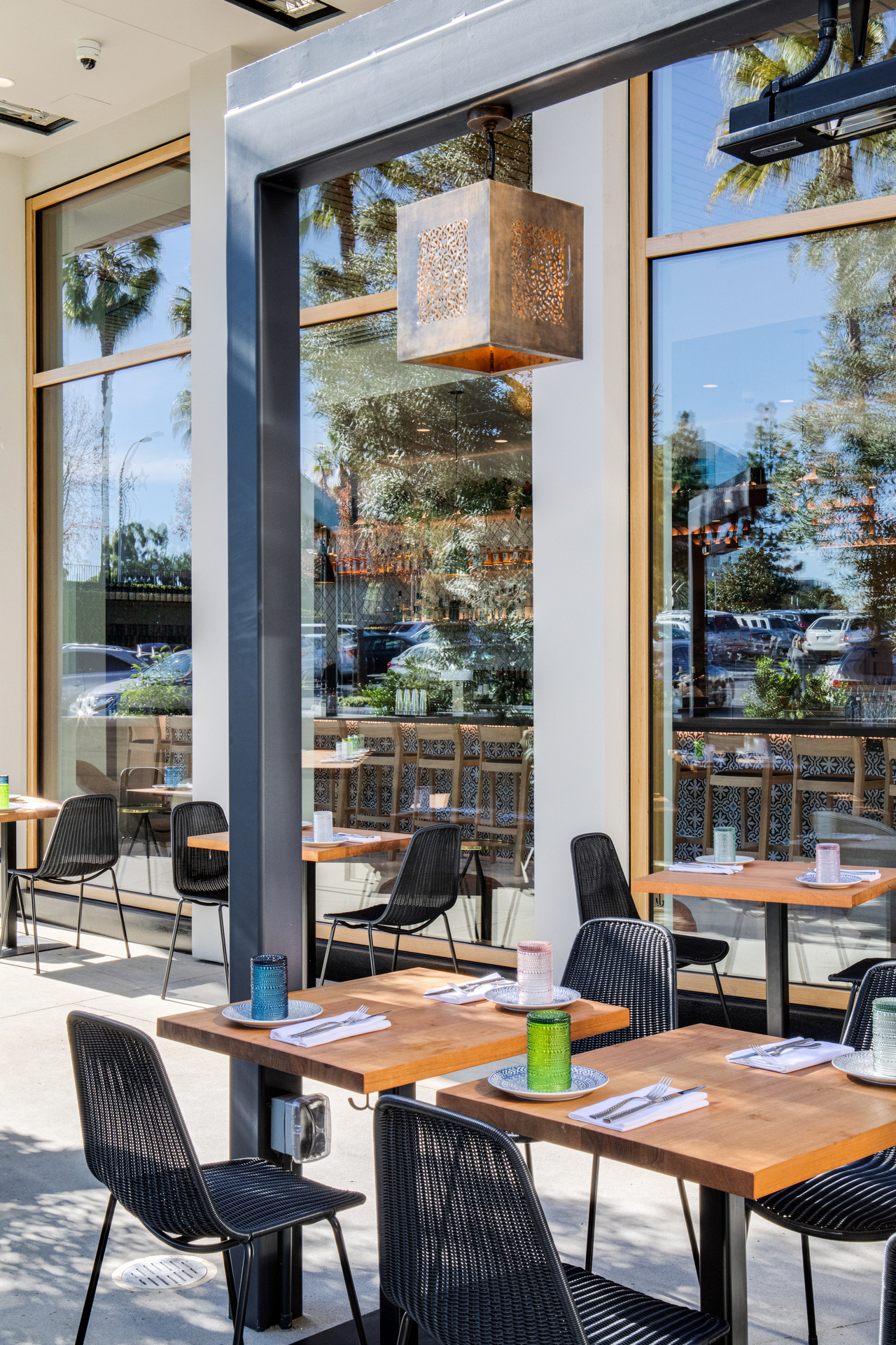 Our electric heaters are specifically designed so heat doesn't blow away in windy or drafty fall air, making it the perfect choice for your outdoor dining needs.