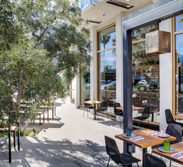 Infratech The Hall Global Eatery Costa Mesa California Restaurant Design Outdoor Dining Seating Heaters