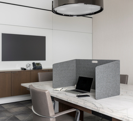 Intego Privacy Desk Divider in Conference Room Open Office Area