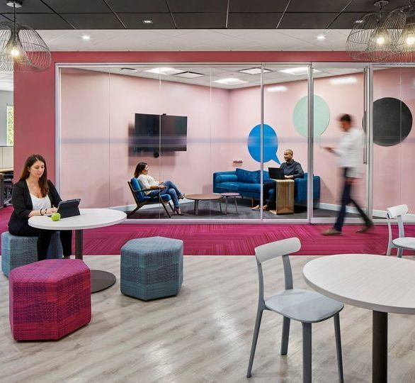 The Modernizing Medicine Headquarters in Boca Raton, Florida, features Interface LVT and carpet throughout the newly renovated space.