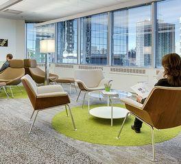 Interface Meridian Credit Union Toronto Corporate Office Work Lounge Design Carpet Design