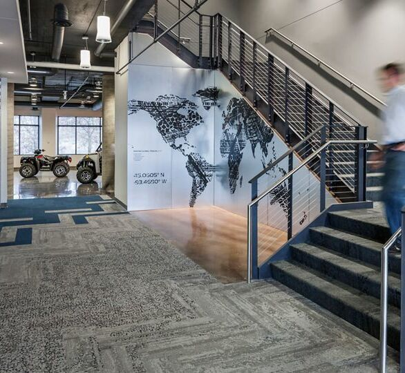 Polaris Industries in Plymouth, MN, designed by NELSON Online