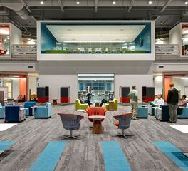 Interface Waukee Innovation and Learning Center Open Commons Design Carpet Tile