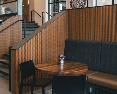 An eclectic vibe is felt throughout the seating areas of IMS.