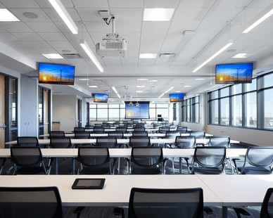 iSpace Environments used their expertise to make a large assembly room more efficient when showcasing presentations.