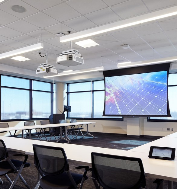 Modernize any meeting space with AV solutions through iSpace Environments.