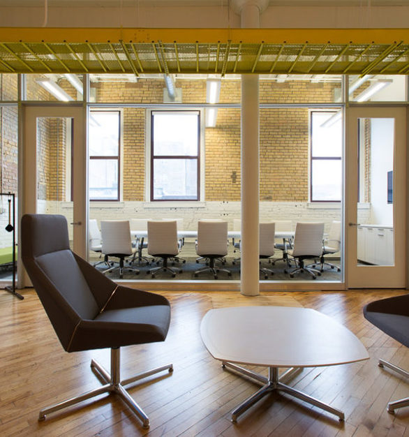 An open floor plan creates an appealing workspace at LeadPages, furnished by iSpace Environments.