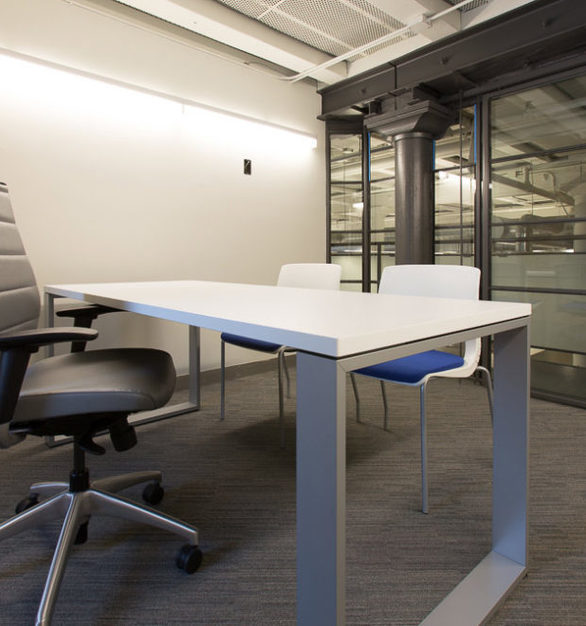 A private office at LeadPages in Minneapolis, Minnesota, furnished by iSpace Environments.