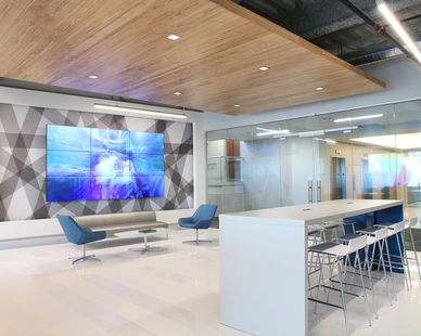The striking look of contemporary furniture design can create a progressive ambience that represents your brand. This project was completed at the Mall of America in Bloomington, Minnesota by iSpace Environments.