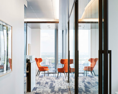 This project was a demonstration in skillful planning and coordination with the design firm, general contractor, installation team, manufacturing partner and Piper Jaffray. As is Piper Jaffray's standard, each user was accommodated with a height-adjustable workstation to allow for healthy movement throughout the workday. The extensive use of Teknion products helped to simplify the process and allowed for stunning finish and installation consistency.