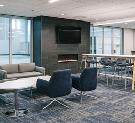 iSpace Environments Riverdale Church Anoka Minnesota Lounge Fireplace