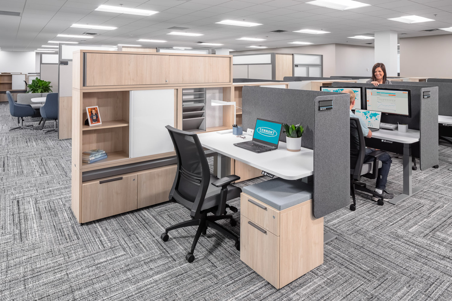 iSpace Environments Tennant Company Eden Prairie Minnesota Open Office Cubicle Layout Design