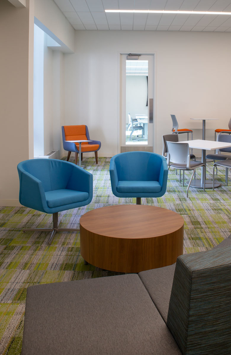 Each room is uniquely designed to fit a different style, size and tone of meeting while emphasizing some of the key historical moments for the organization. They are just a few of the spaces that give way to a much bigger design effort in the new headquarters.
