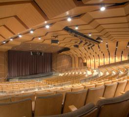 jacaranda Auditorium custom wood wall treatments