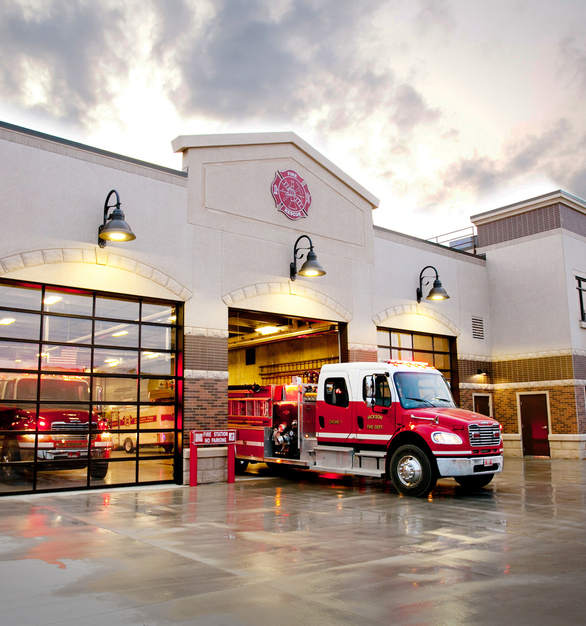 Exterior of the Jackson Fire Station done by Brunton Architects & Engineers.