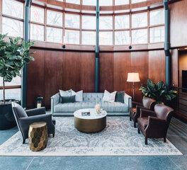 Joy Martin Architecture O'Shaughnessy Holding Company Office Interior Design Eden Prairie Minnesota Rotunda