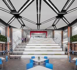 JTH Lighting Alliance IMT Corporate HQ West Des Moines Iowa Atrium Design