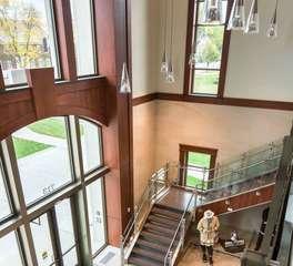 JTH Lighting Cedar Rapids Fire Station Lobby