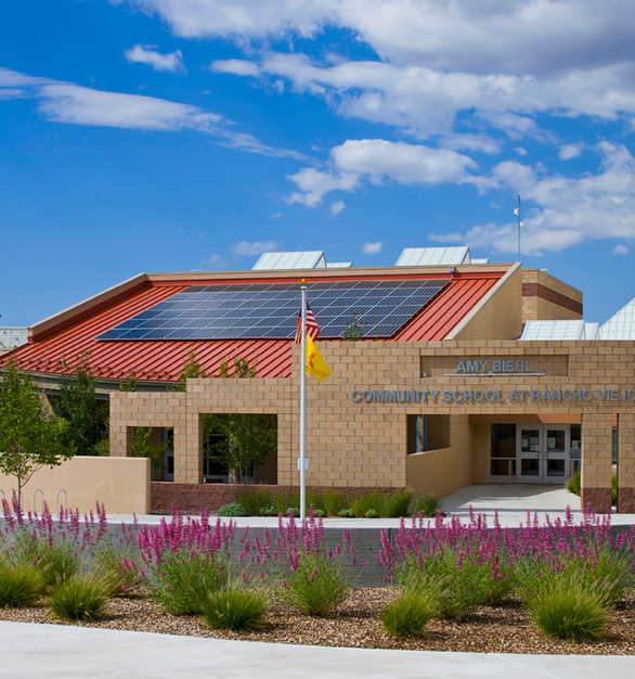 The Amy Biehl Community School, a K-6 school in the public school system of Santa Fe,