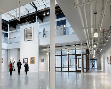 The award-winning Elgin Artspace Lofts, which opened in 2012, transformed a 1908 Sears building into a hub for artists to affordably live and pursue their craft. Kalwall® shines a light on their collective works.