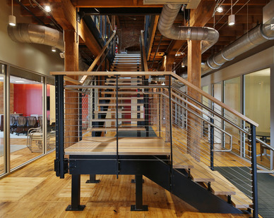 Cable railing system for Duke University Office of Counsel.