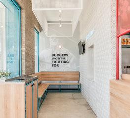 Kim Lewis Designs Restaurant Design Burger Libre La Porte Texas Main Entrance and Waiting Area