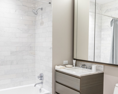 KOHLER® products were used throughout the apartment units at One Hudson Yards because of the quality of the fixtures reflects everything about the vision and aesthetic of every space.