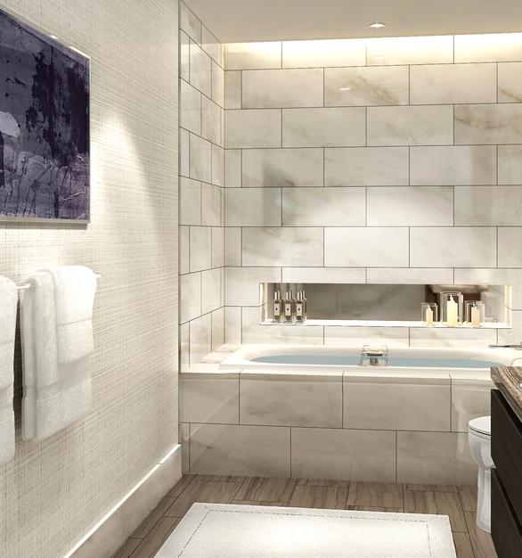 Kohler Kallista Hotel Condo Unit 2 Master Bathroom Tile and Lighting