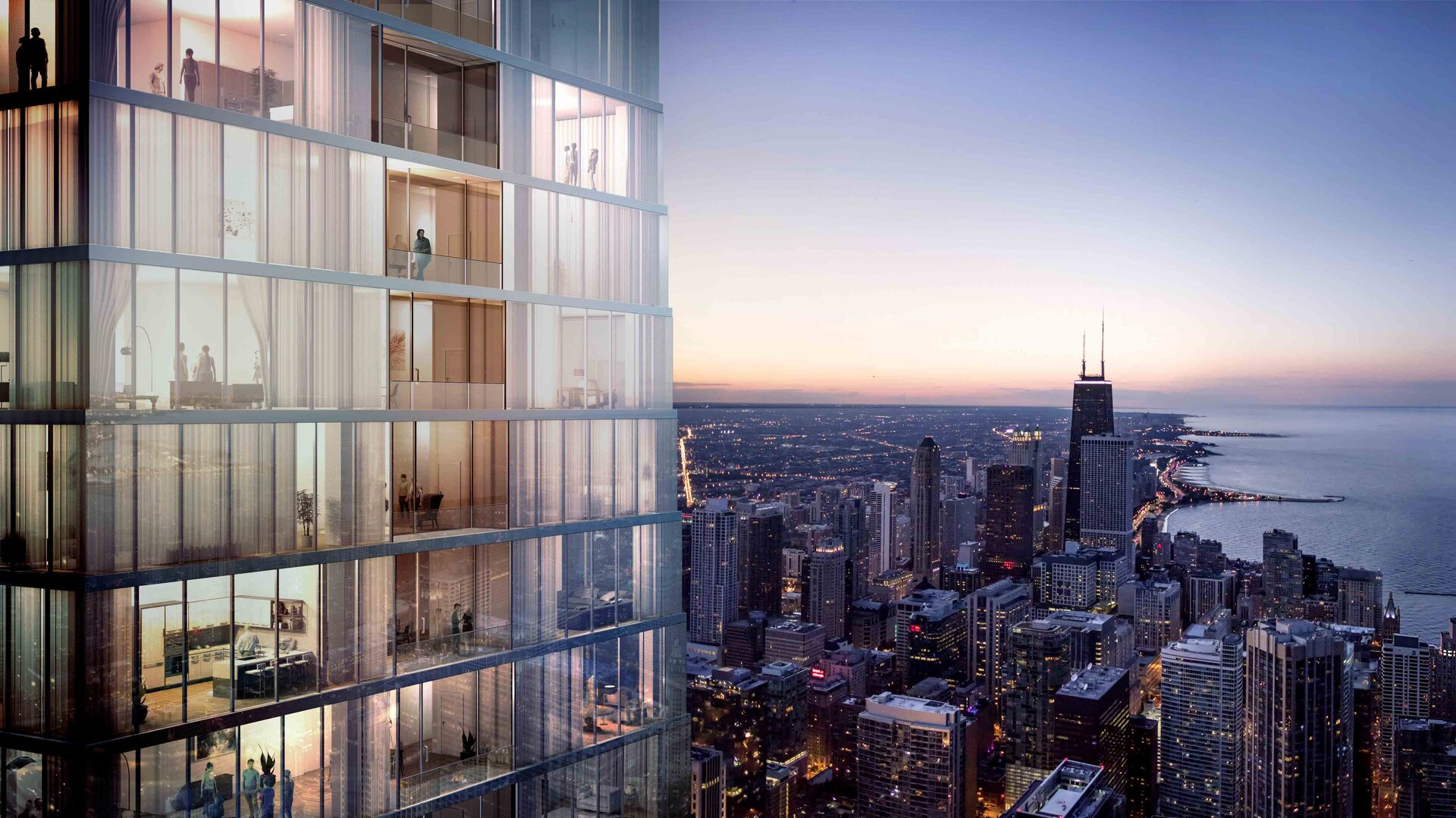 An unparalleled luxury residential high-rise condo building and five-star hotel known as Vista Tower is poised to be one of Chicago's most memorable landmarks. A masterpiece of design by award-winning architect Jeanne Gang and world-renowned interior design specialists, Hirsh Bedner Associates, Vista Residences bring a new level of modern ultra-luxury living to the Chicago skyline. Each home offers elegantly adorned interiors, exquisitely crafted finishes, and sweeping panoramic views unlike any other in the city.